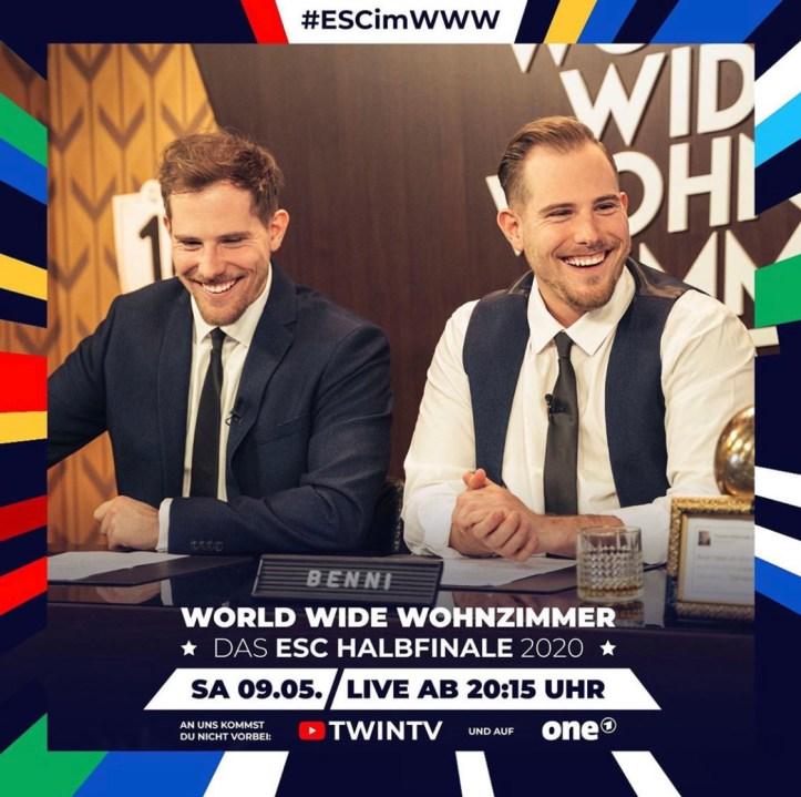 World Wide Wohnzimmer - Das ESC Halbfinale 2020 ONE funk ARD Benni Benjamin Dennis Wolter