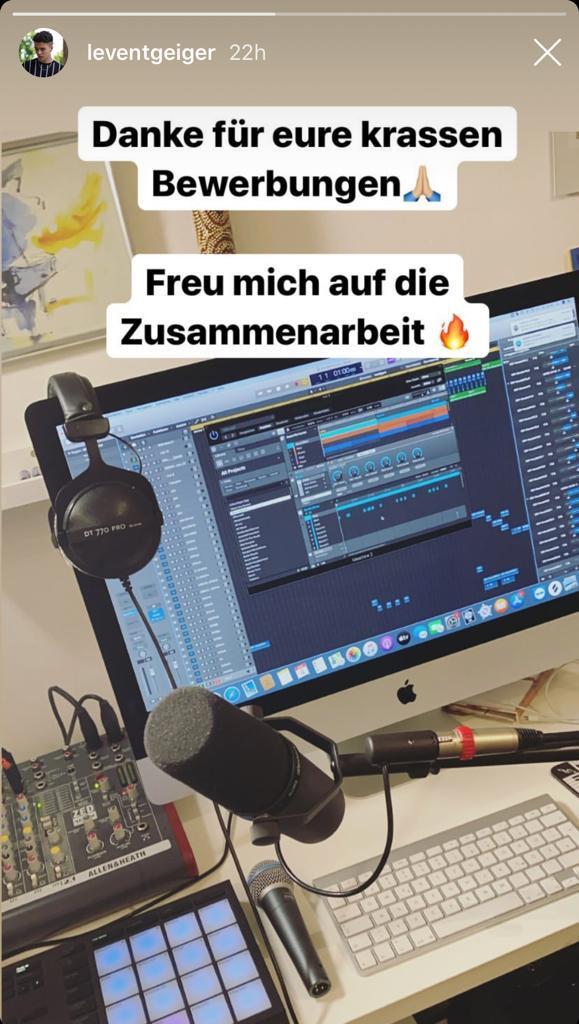 Levent Geiger Dein Song für Warschau Instagram