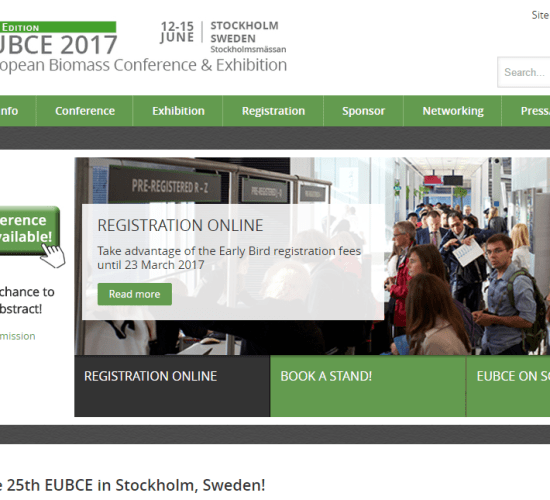 25th European Biomass Conference and Exhibition, EUBCE 2017, 12-15 June 2017, Stockholmsmaässan, Stockholm