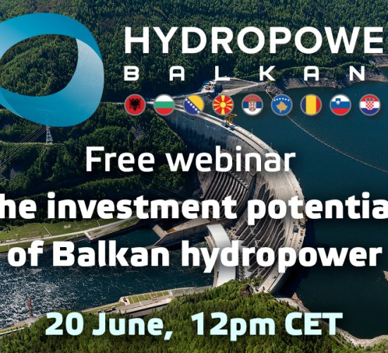 Free webinar on the investment potential of Balkan hydropower, to be held on 20th June 2017