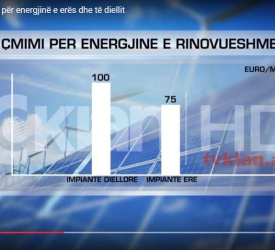 ERE miraton çmimin për energjinë e erës dhe të diellit, nga Tv Klan, Publikuar me 02 Gusht 2017