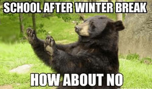 Обратно в школу после зимних каникул? Не-не-не!