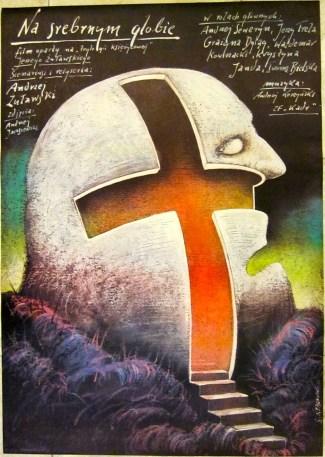 """FIGURA 217 - Poster polaco do filme """"On the Silver Globe"""", de A. Zulawski (1988)"""