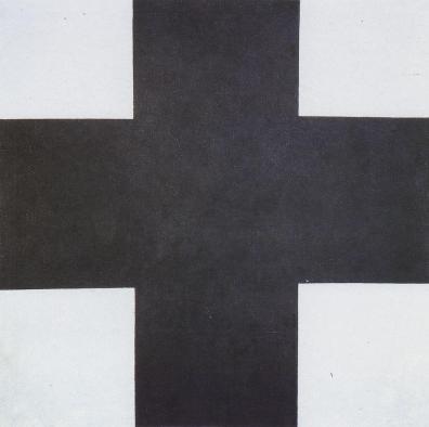 "FIGURA 33 - ""Black Cross"", pintura de Kasimir Malevich (1923)"
