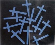 "FIGURA 47 - ""Blue Crosses"", pintura de Andy Warhol (1981-1982)"