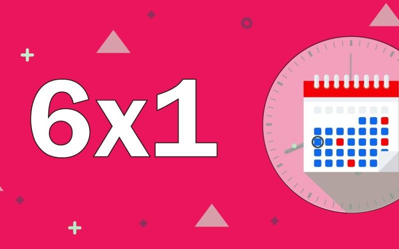 escala 6x1