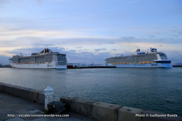 Double escale inaugurale au Havre - MSC Splendia et Anthem of the Seas