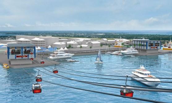 Cayman's Sky Bridge - Cayman cablecar - téléphérique