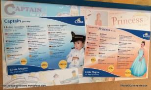 Costa Magica - Squok club enfants - Capitaine et Princesse d'un jour