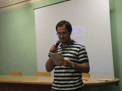 Fernando Della Posta, reading 'Oblò'