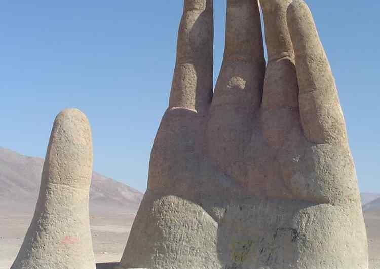 La mano del desierto de Atacama, Chile