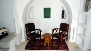Maison d'hôtes à Djerba : la chambre coin salon