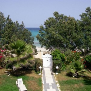 villa rejiche mahdia - vue de la chambre