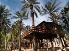 1 nuit dans une cabane dans les palmiers