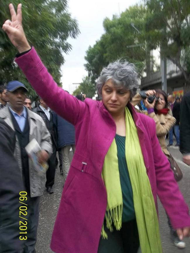 Basma Khalfaoui, veuve de Chokri Belaid