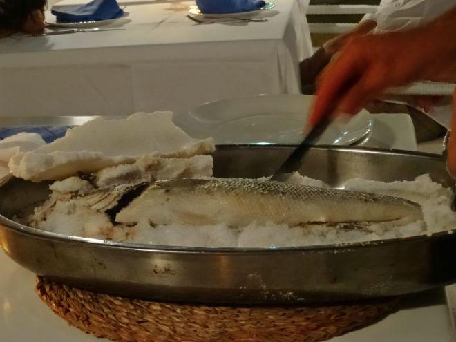 Bar en croute de sel