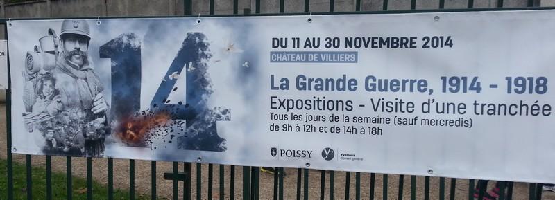 La Grande Guerre : Visite d'une tranchée à Poissy.