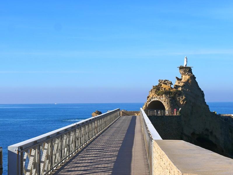 La côte basque en hiver