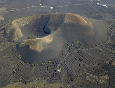 Lanzarote : survol des volcans.