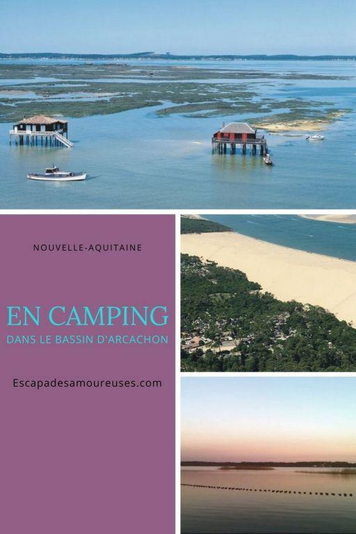 En camping dans le Bassin d'arcachon France