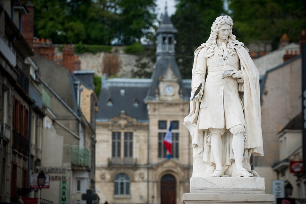 Dans les rues de Chateau-Thierry Jean de la Fontaine