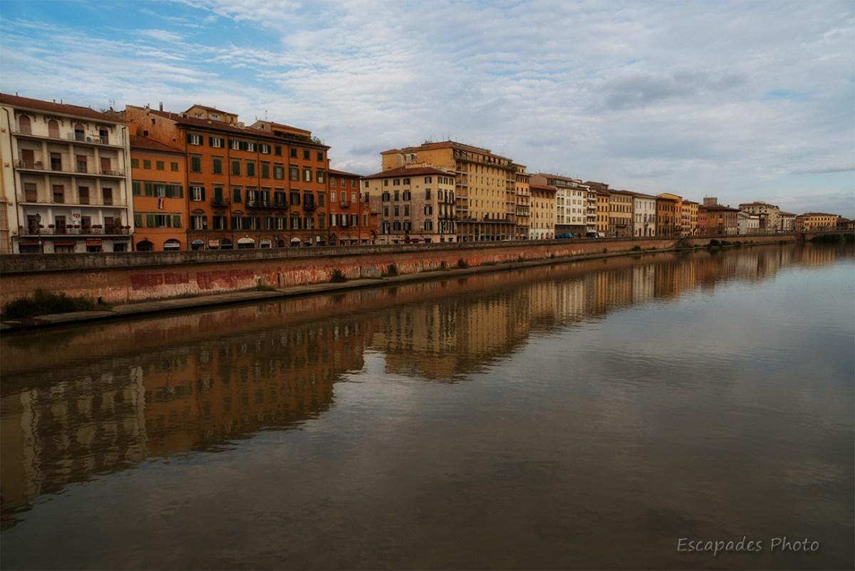 Digues du fleuve Arno pise