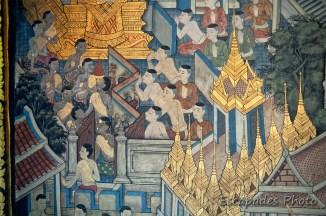 wat Pho - fresque murale
