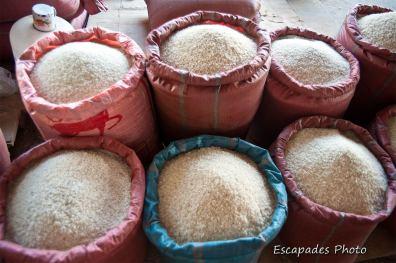 Sac de riz - marché luang namtha
