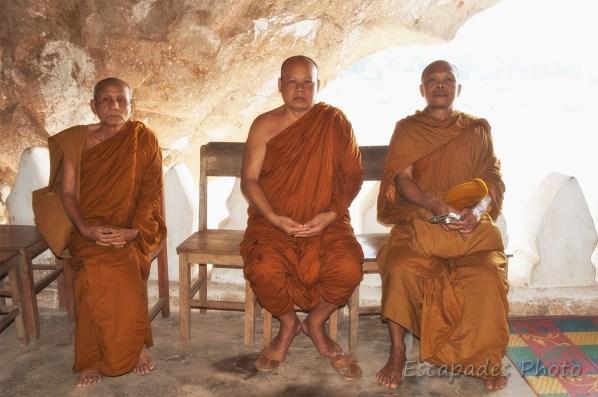 Moines bouddhistes à Pak Ou - Portrait