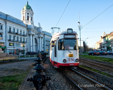 Arad - Tramway en centre ville