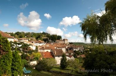 Aubeterre-sur-Dronne à flanc de colline