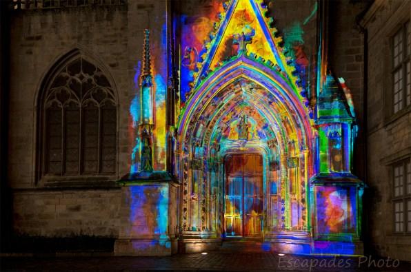Saint-Corentin illuminé : Portail Sud