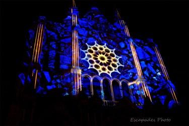 Scénographie du portail sud - Chartres en lumière