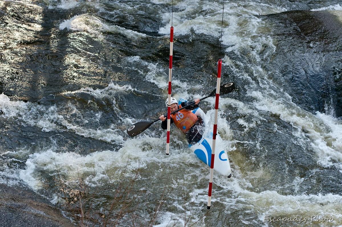 Canoë kayak : Slalom eurolympiques Roches du Diable - passage de porte