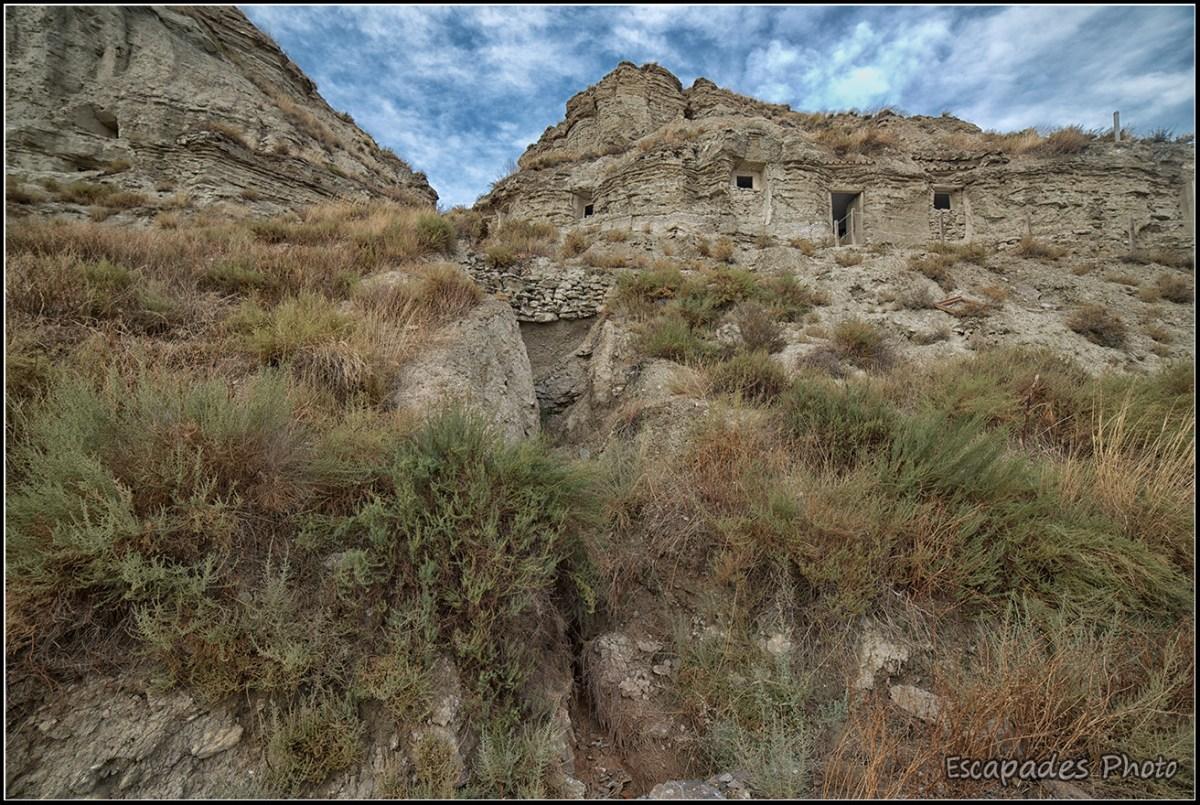 Arguedas - L'érosion crée des ravines