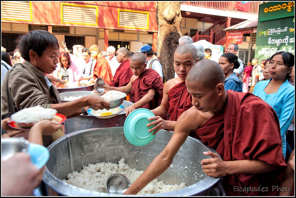 Mahagandayon - Le service du riz