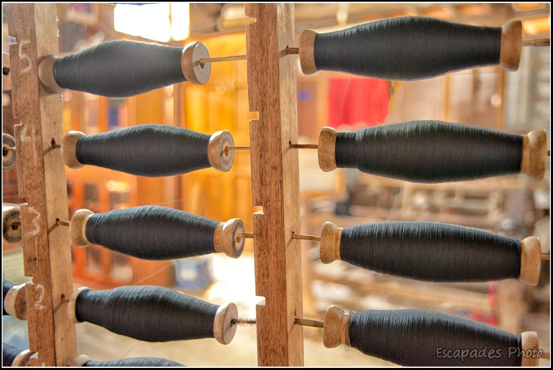 Amarapura, tissage du coton et de la soie