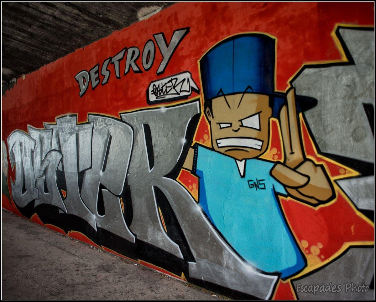 Destroy by Relax GNC - graphe canal de l'Ourcq