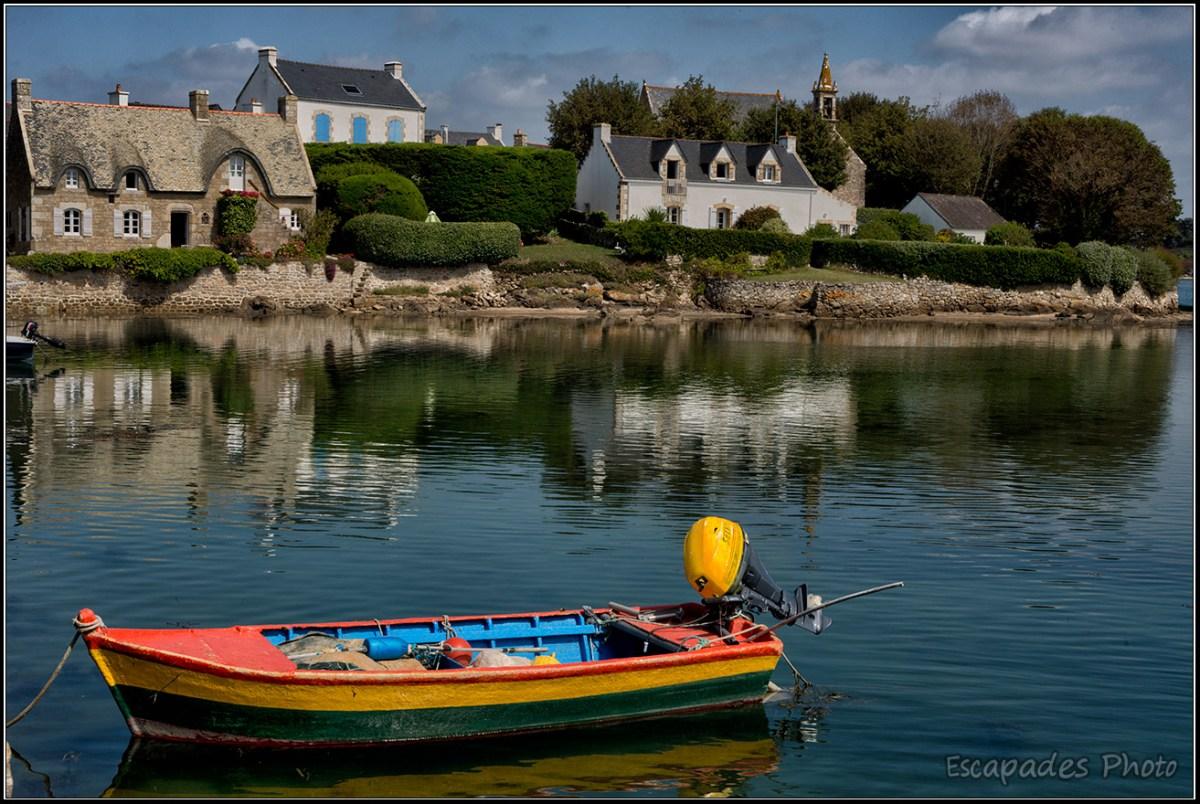 îlot de Saint-Cado - la barque colorée