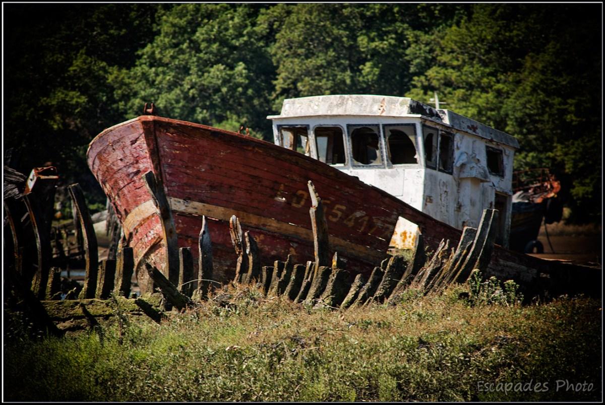 Chalutier LO 554177  cimetière bateaux Kerhervy  Lanester
