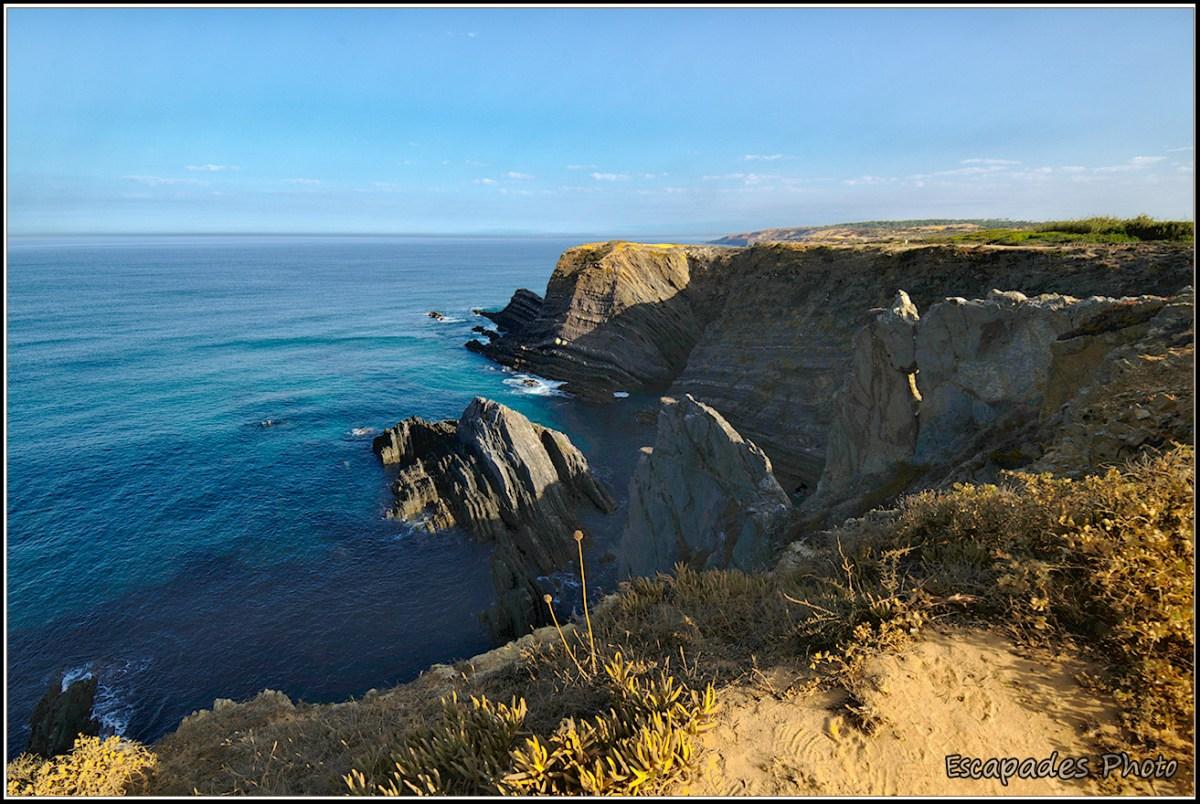 Cabo Sardão - Les falaises de schiste