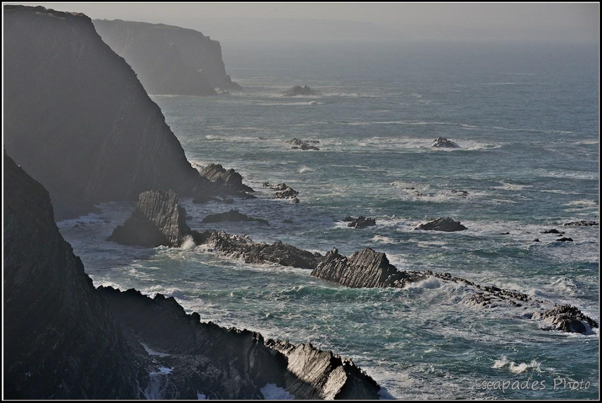 Cabo Sardão - Le trait du littoraloral