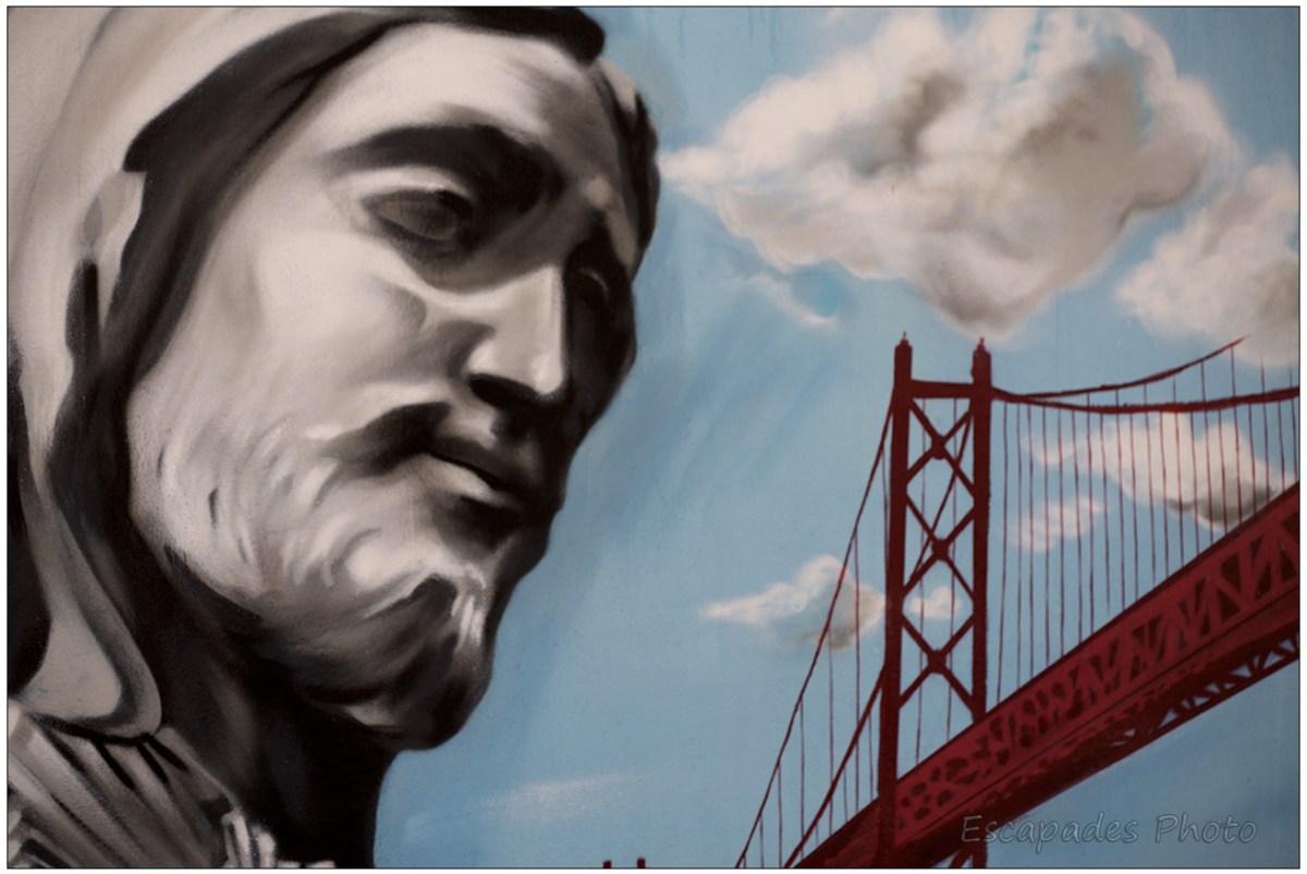 Pont du Tage et visage du Christ