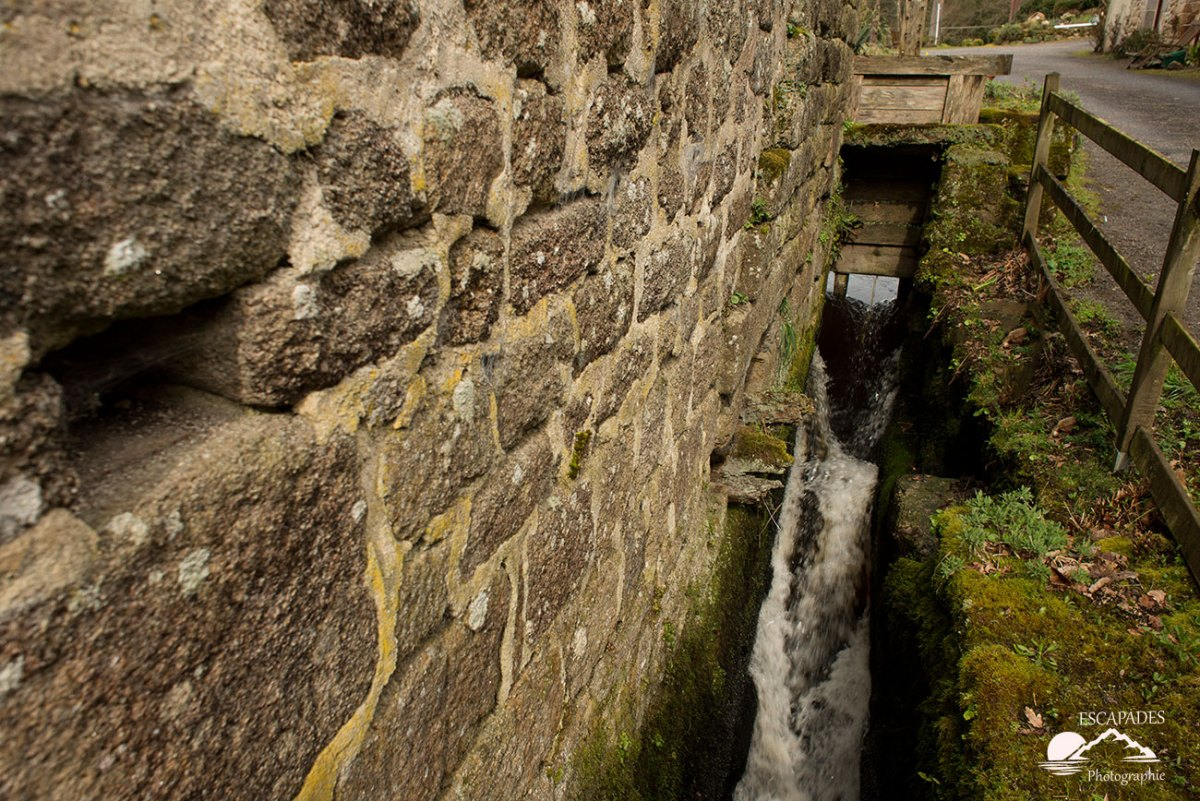 Moulin de Kergoat - emplacement de la roue à aubes