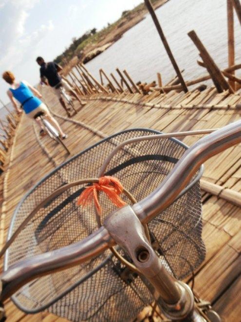 Bamboo Bridge in Kampong Cham