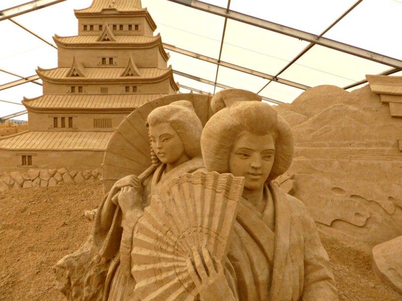 Japanische Impressionen beim Sandskulpturen Festival Usedom
