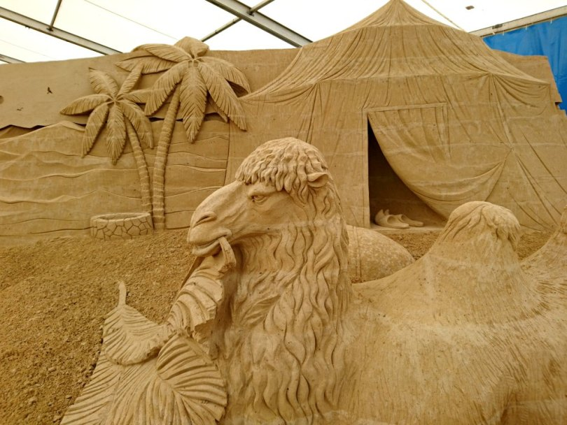 Sandskulpturen Festival Usedom: Leben in der Wüste