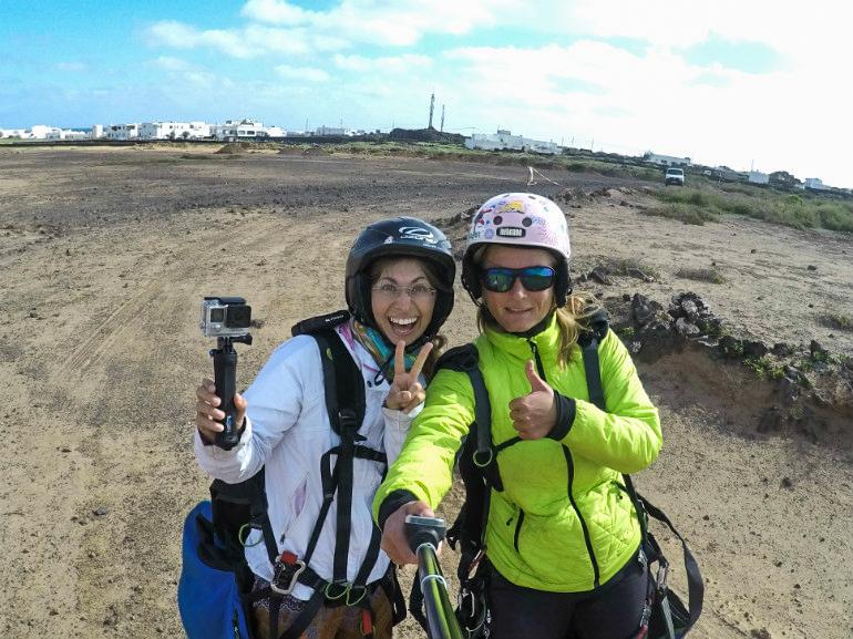 Nach dem Paragliden