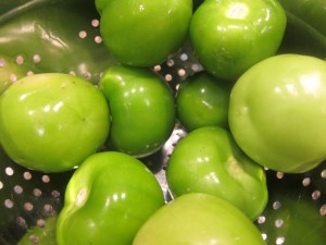 Tomatillos are so pretty after peeling off their ugly outer skin.