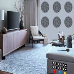 Knf Lovely Living Room Escape Walkthrough Zebra Decor For Fan Sports Game